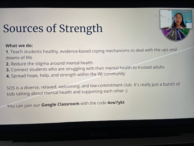 Senior and president of Sources of Strength Victoria Rentsch explains SOS's mission in helping students cope with mental health and how they can join.