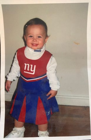 "Senior Emma Richardell supports her favorite football even as a little toddler.   She supports the team because her father is from New York. "" My favorite football team is the New York Giants because my dad is from New York,"" Richardell said."