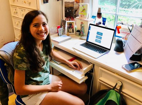 Freshman Rachael Wolfson starts her first day of high school from home on August 31. WJ freshmen have had to adapt to not only online classes, but also being in a brand new school.