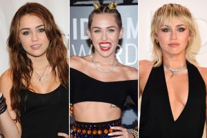 Throughout her 14-year career, Miley Cyrus's image has changed many times, from her hair and makeup to her music and coverage by the press.