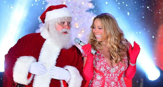 Mariah+Carey+performs+her+holiday+classic%2C+%22All+I+Want+For+Christmas+is+You%2C%22+alongside+Santa+Claus+in+2012.