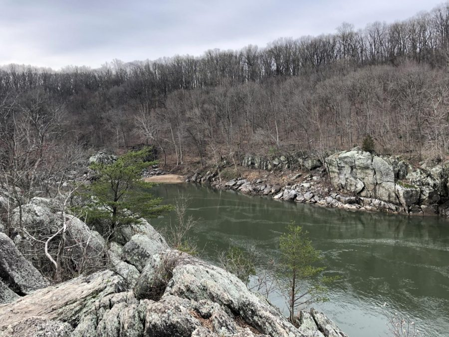 The Potomac River rushes past a rock scramble in Section A. The Billy Goat Trail has been one of most popular day hikes in the DC-Maryland area for years.