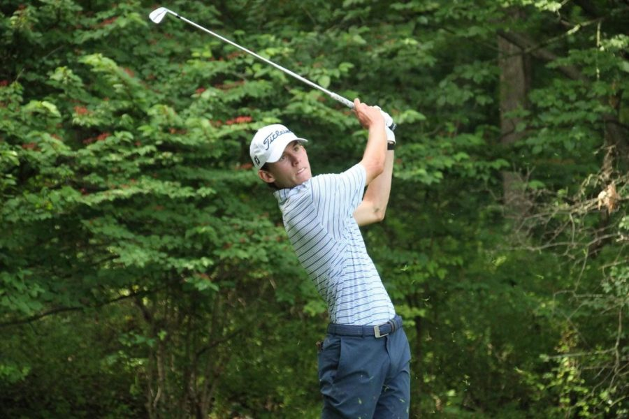 Jake+Griffin+follows+through+on+a+swing+during+the+state+championship+last+year.+He+looks+to+continue+his+success+at+Penn+State+and+even+the+pros.+