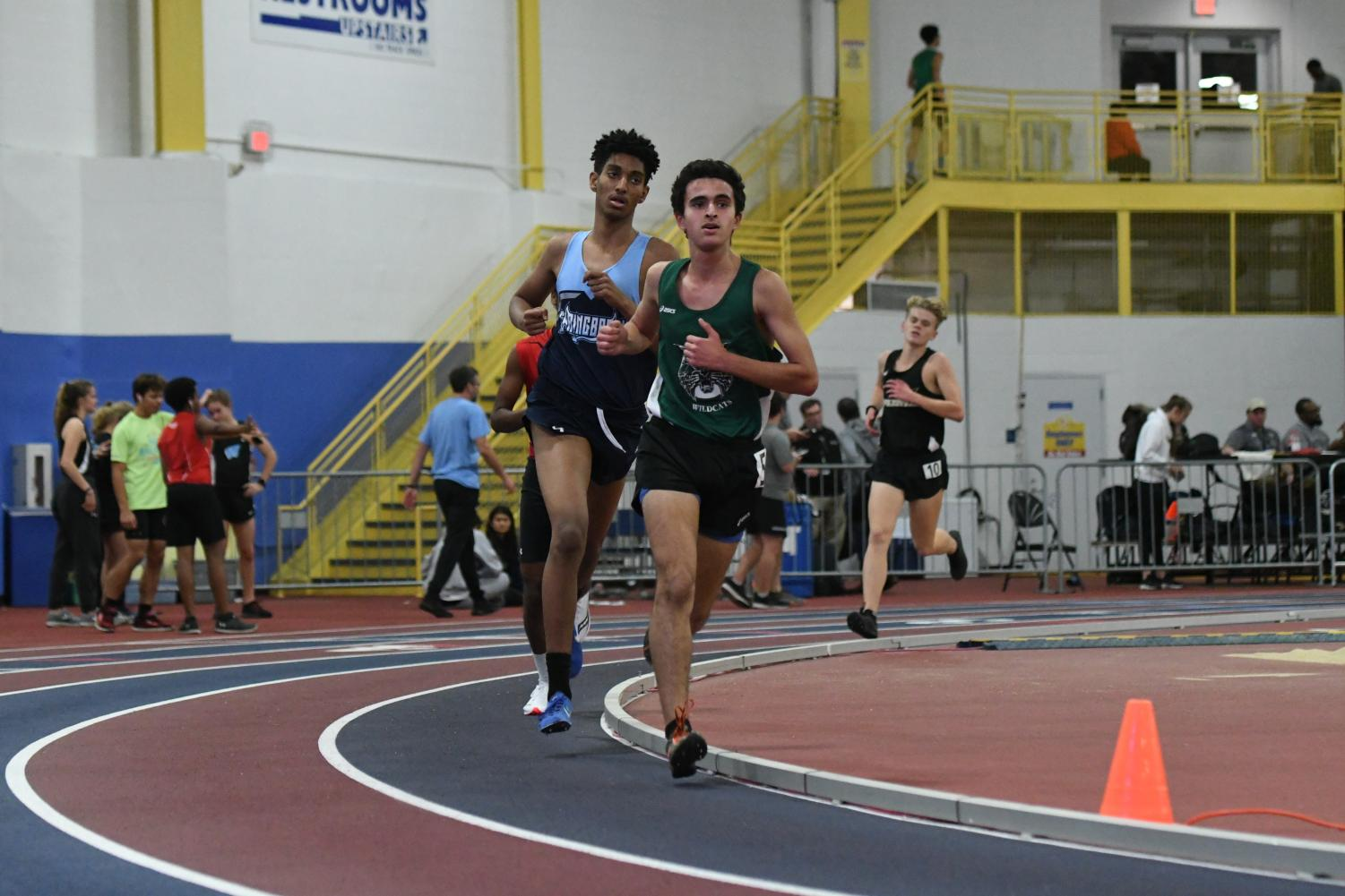 Indoor Track runner Adam Morad at a trual meet last winter. Morad specializes in the two mile race.