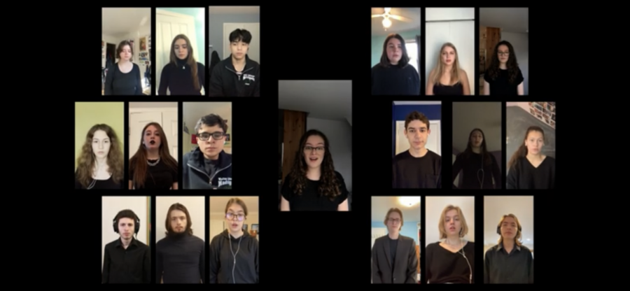 WJ Madrigals perform a piece for MLK Day on Jan. 18th. The audio and visuals were recorded separately per person and combined together with an editing application. (youtube.com/watch?v=pX4dTJgSpws)