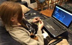 Bridgerton has become a welcome source of Regency escapism during this difficult time. Senior Rebecca Bennet and her cat Bean enjoy watching the show together while knitting.