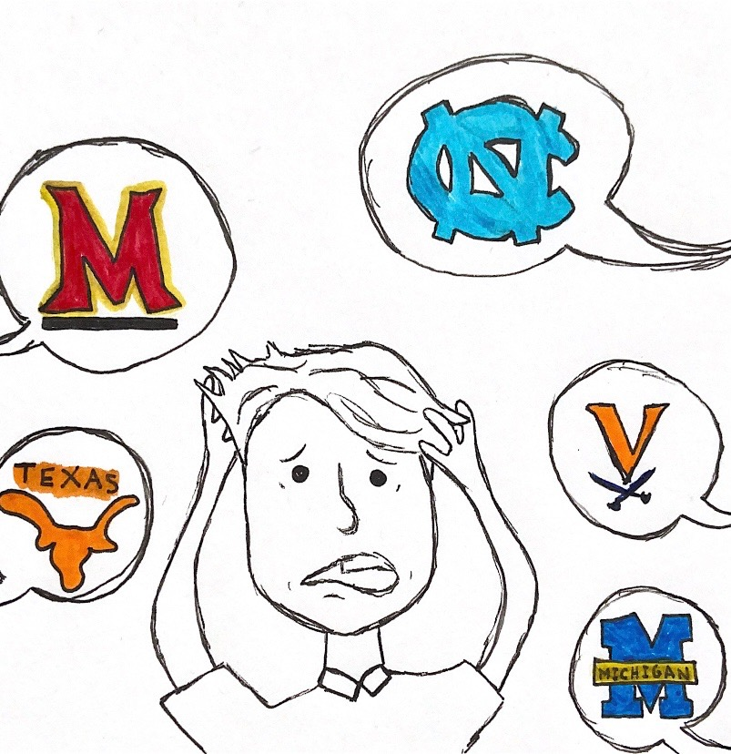 Should seniors keep up with others' college decisions?