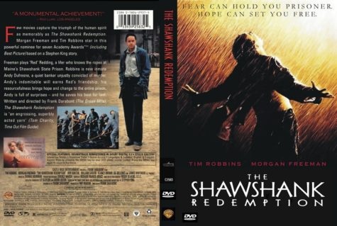 The classic 1994 film The Shawshank Redemption stars Tim Robbins and Morgan Freeman. The film follows two imprisoned men over their sentences.