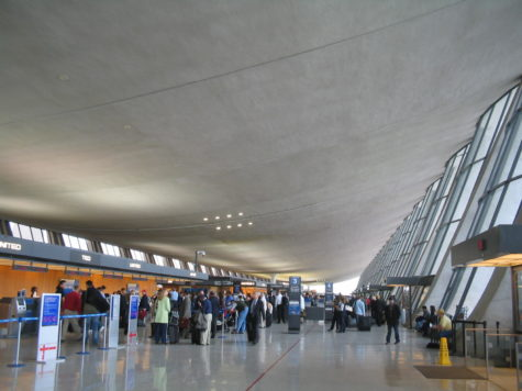Passengers at Washington Dulles International Airport lining up at the check-in area for their flights. As national vaccination efforts have progressed and travel restrictions have been eased, high levels of travel are expected this spring.