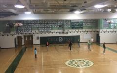 WJ students enjoy basketball during gym class.