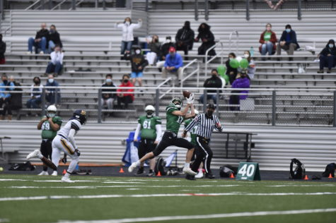 Junior Lucas Boiteux catches 67 yard touchdown throw from fellow junior Will Gardner against BCC. This was one of the game-changing plays that helped lead WJ to their 26-6 victory over their rival.