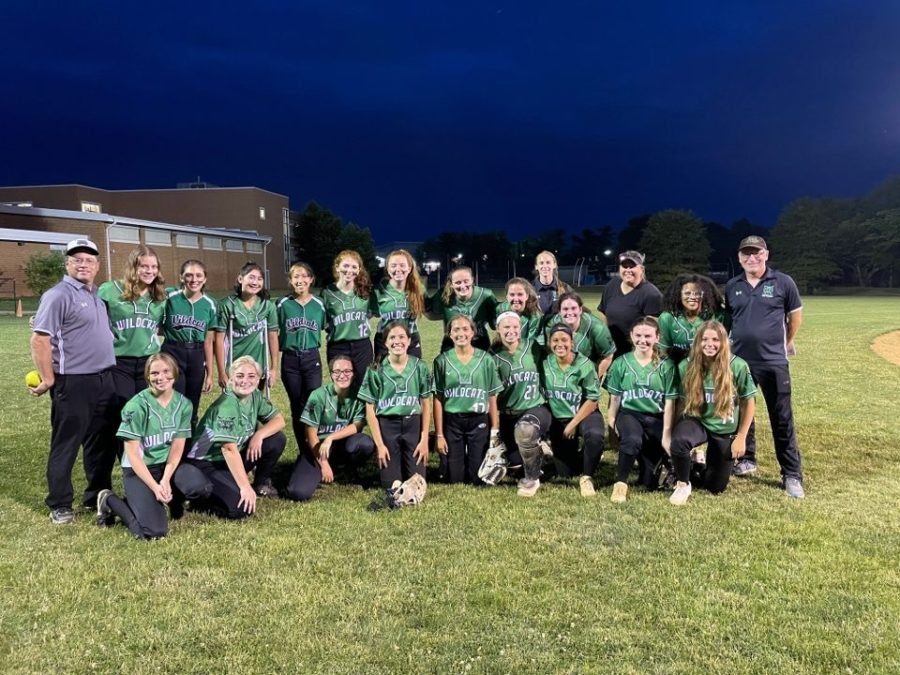 The 2020-21 WJ Softball team poses for a photo after defeating Whitman 5-3 in the second round of the playoffs. They host Wootton Friday evening for the regional championship.