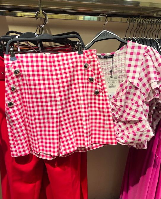 Gingham print will take over the streets this summer.