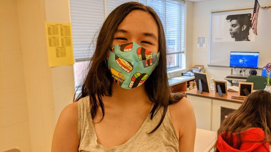 I wear [my mask] because its cute and because I lost my other one. -Allyson Walker, 12