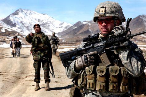 U.S. soldiers on patrol in Afghanistan. This troop presence ended with President Bidens withdrawal decision.