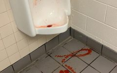Kool-Aid can be seen again but in a different bathroom. Both instances occurred on Friday, Sept. 17.