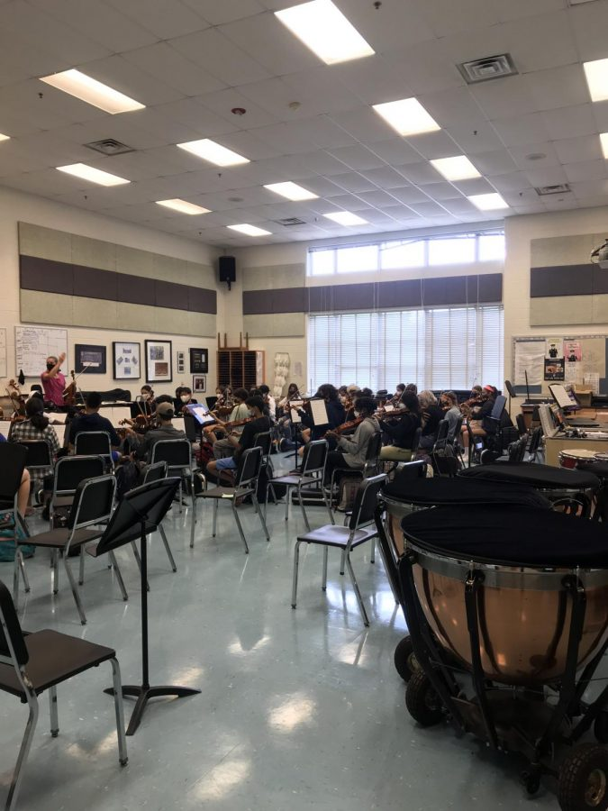 Walter Johnson music students have to play some of their instruments without masks on. Some long time music students now feel unsafe playing their instrument in school.
