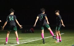 Juniors Bardia Hormozi and Leo MacDonald and Senior Alejandro Linares celebrate after one of Hormozis two goals. Hormozi continues to put huge numbers for the Wildcats this season.