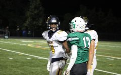 Junior wide receiver Pablo Foley lets BCC know where they stand. The rivalry between BCC and WJ often gets heated. After making a clutch tackle on a third down, Foley decided to have a word with the opposing team.