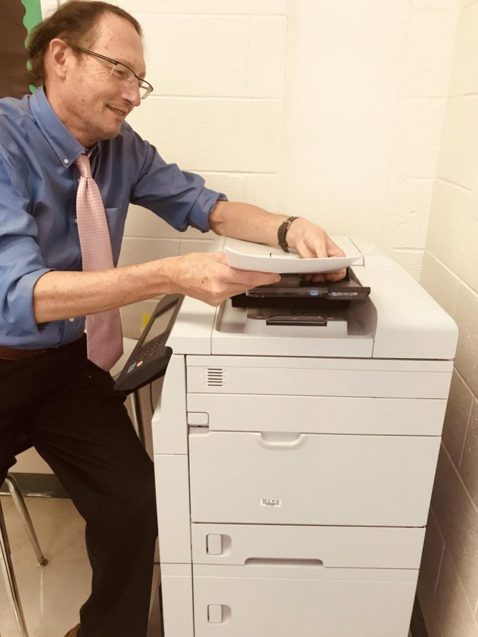 WJ copy machine sits with no paper as the county experiences a paper shortage. With this new reality, teachers and students are going to be completing most of their assignments as they did last year: online.
