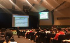Administration holds a junior meeting during Wildcat Wednesday on Sept. 29. Students learned about COVID regulations in the building as well as testing schedules.