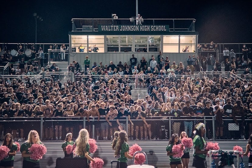 With filled stands and and hype students within them, the WJ student section did nothing less but bring all of the energy needed to help their Wildcats win against rival BCC. The sea of students dressed in black was louder than ever for this special homecoming game.