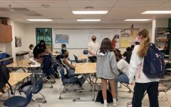 Leadership students prepare for class and more Homecoming dance planning on Oct. 1. The Oct. 9 dance has been adapted to be more COVID safe; however, some of these changes have concerned students who worry about the quality of the experience.