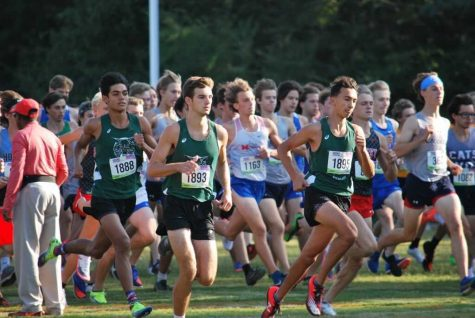 Cross country competes at a meet in North Carolina. This is the first travel meet for the team since before the pandemic.